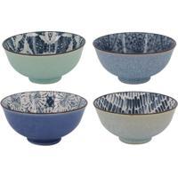 Jogo De Bowls Abstratos- Verde Claro & Azul Claro- 4Btc Decor