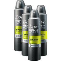 Kit 4 Desodorantes Dove Men+Care Antitranspirante Aerossol Sports Active+Fresh 150Ml