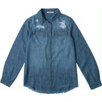 Camisete Azul Escuro Slim Light Jeans