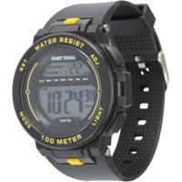 Relógio Digital Mormaii Mo9810 - Masculino - Preto/Amarelo