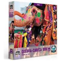 Quebra-Cabeça Cores Da Asia 1000 Peças Índia - Toyster