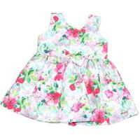 Vestido Paraíso Moda Bebê Floral Rosa