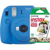 Câmera Fujifilm Instax Mini 9 Azul Cobalto + Pack - Unissex