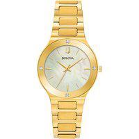 Relógio Bulova Feminino Aço Dourado - 97R102