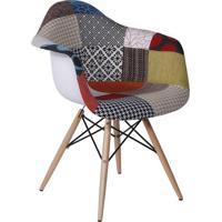 Poltrona Eames Dar Com Braço- Branca & Preta- 80X63Xor Design