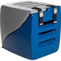 Caixa Transporte 2 Em 1 Happy Box-Charlie Pet - Cinza / Azul