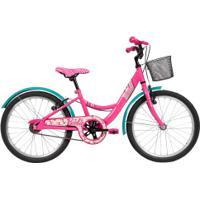Bicicleta Caloi Barbie - Aro 20 - Freios V-Brake - Feminina - Infantil - Rosa