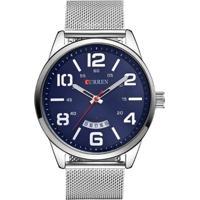 Relógio Curren Analógico 8236 Azul