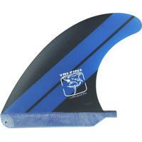 Quilha Central Longboard Ou Stand Up Fibra - Preto E Azul - 6,5'' Tri-Fins - Unissex