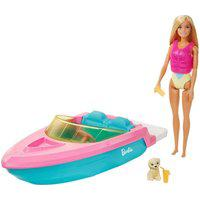 Barbie Com Barco E Cachorrinho