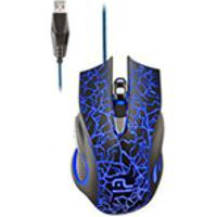 Mouse Multilaser, Usb Com Fio, Gamer Optico, Azul Mo250