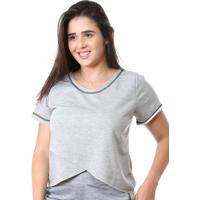 Camisa Galvic Fitness Blusa Moletinho Promoção 9510 Cinza Claro