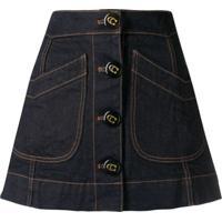 Coach Denim A-Line Skirt - Azul