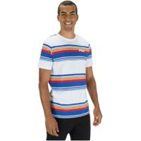 Camiseta Fila Summer Stripes - Masculina - Branco/Azul Esc