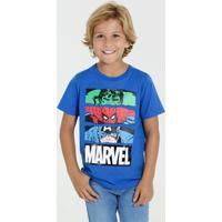 Camiseta Infantil Manga Curta Marvel