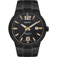 Relógio Orient Masculino Mpss1023 P2Px Pulseira E Caixa Aço Preto Mostrador Preto
