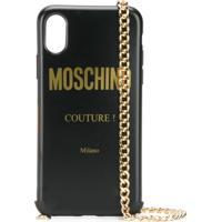 Moschino Capa Para Iphone Xs/X Com Logo - Preto
