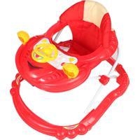 Andador Para Bebê Carro Dardara Vermelho