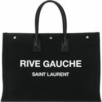 Saint Laurent Bolsa Tote Noe Rive Gauche - Preto