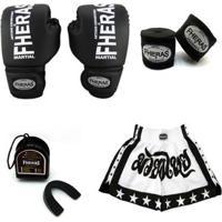 Kit Boxe Muay Thai Fheras Tradicional - Unissex