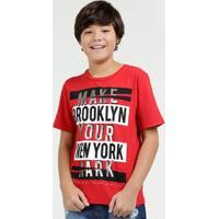 Camiseta Juvenil Estampa Frontal Foil Manga Curta Marisa