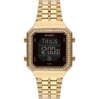 Relógio Euro Fashion Fit Aço Feminino - Feminino-Dourado