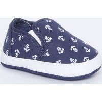 Slip On Com Recortes - Azul Marinho & Branco- Ticco Tico Baby