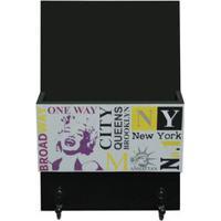 "Kapos Organizador Porta Correspondãªncias ""New York"" Preto & Branco 22X"