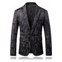 Terno Masculino Texturizado Abstract - Khaki