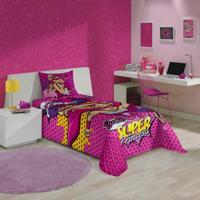 Jogo De Cama Barbie Super Princesa 2 Peças 210 Cm