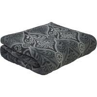 Manta Coral Fleece Edna Casal- Cinza Escuro & Cinza-Sultan