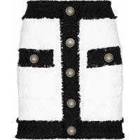 Balmain Minissaia De Tweed Bicolor - Preto