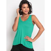 Blusa Lisa Com Renda - Verde - Thiptonthipton