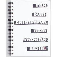 Caderno Pra Bom Entendedor 15X21 Casual Reserva Mini Branco