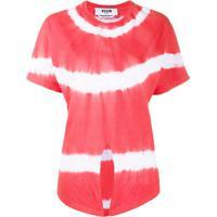 Msgm Blusa Tie-Dye Com Amarração Na Cintura - Vermelho