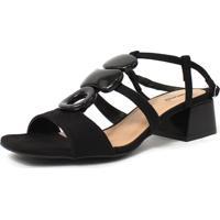 Sandália Damannu Shoes Anita Suede Preto