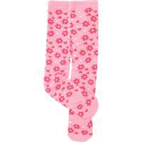Meia Calça Pimpolho Menina Floral Rosa