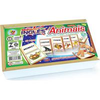 Dominó Junges Inglês Animais Multicolorido