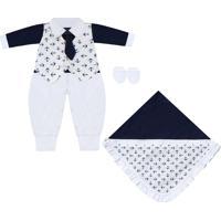 Saída Maternidade Padroeira Baby Jonas Azul Marinho