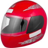 Capacete Moto Liberty Four Tam. 60 Vermelho - Pro Tork