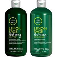 Kit Shampoo + Condicionador Paul Mitchell Tea Tree Lemon Sage Thickening Kit - Unissex-Incolor
