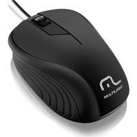 Mouse Emborrachado Com Fio Usb Multilaser Preto
