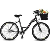 Bicicleta Kyklos Aro 26 Urbis 8.7 V-Brake Nexus Com Cesta Preto