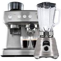Kit Cafeteira Espresso Xpert E Liquidificador New Osterizer Aço Escovado - 127V