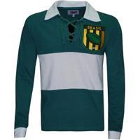 Camiseta Liga Retrô Brasil Rugby Longa - Masculino