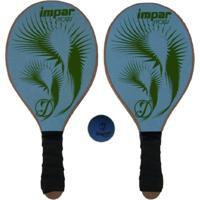 Kit Frescobol De Praia Impar Sports + Bolinha - Azul Claro