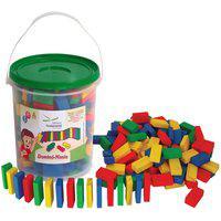 Brinquedo Educativo - Dominó Mania 292 Peças Mdf Balde