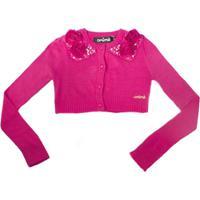 Bolero Tricot Laço Bordado - Animale - Feminino-Pink