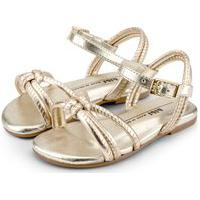 Sandália Infantil Bibi Mini Me Metalizado Ouro - 1102196