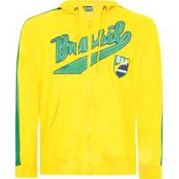 Jaqueta Licenciados Futebol Brasil Amarela